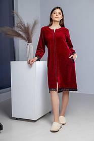 Жіночий халат на блискавці