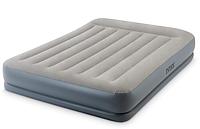 Надувная двухспальная кровать Intex 64118 со встроенным насосом 220 V (152*203*30 см)
