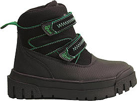 Ботинки Minimen 12GREEN Черный с зеленым