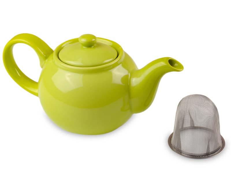 Чайник заварочний керамічний горчичний з ситечком, об'єм 800мл