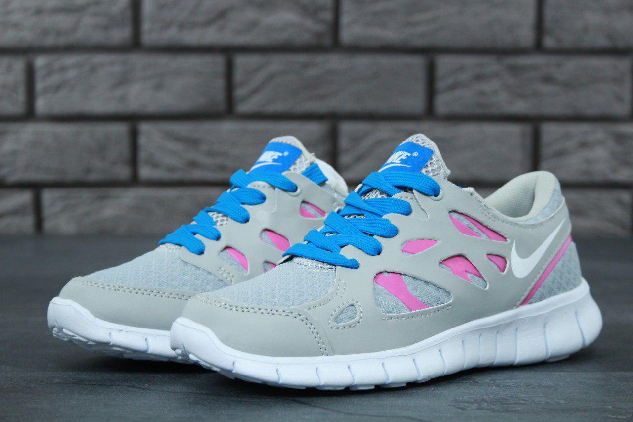 Женские серые Кроссовки Nike Free Run