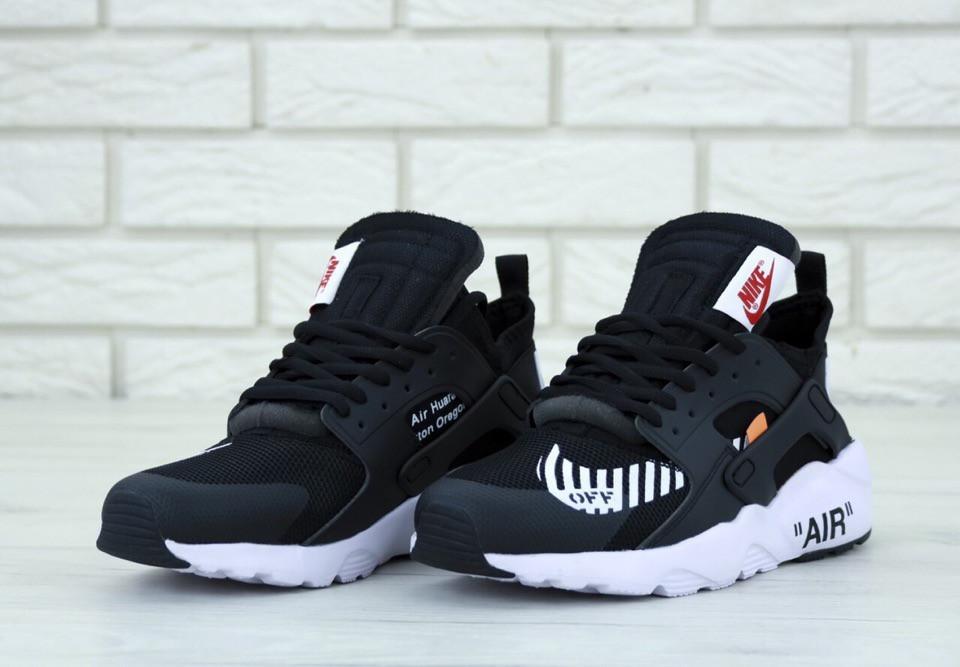 Жіночі чорні Кросівки Nike Air Huarache OFF WHITE