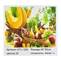 "Картина по номерам ""Дары осени"" KTL 1359, 30*40см"