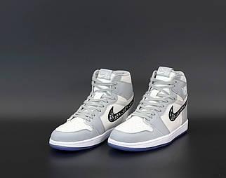 Жіночі сірі кросівки Nike Air Jordan 1 Dior