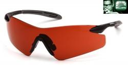 Очки INTREPID-II (sunblock bronze) красно-коричневые