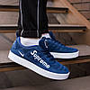 Кроссовки мужские Nike Supreme синие. Стильные мужские кроссовки Найк темно-синего цвета., фото 3