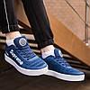 Кроссовки мужские Nike Supreme синие. Стильные мужские кроссовки Найк темно-синего цвета., фото 4