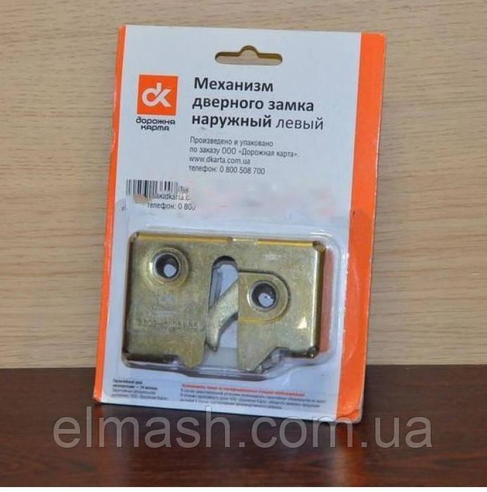 Механизм дверного замка наружный левый (шоколадка) ГАЗ 3302 (бесшумный) (пр-во Россия)