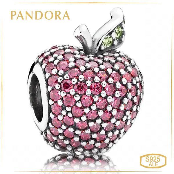 Пандора Шарм Pave «Красное яблоко» Pandora 791485CFR