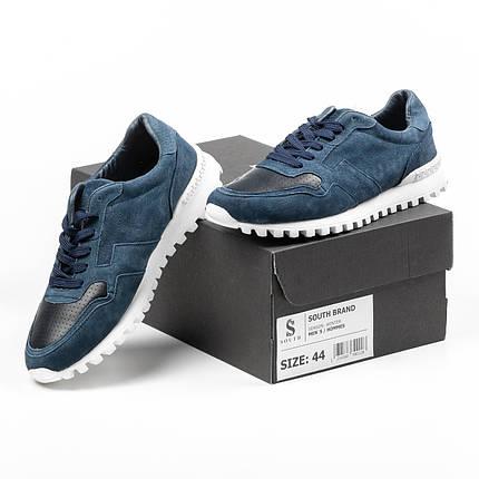Кроссовки мужские South Classic blueтемно-синие. Стильные мужские кроссовки темно-синего цвета., фото 2