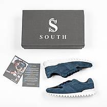 Кроссовки мужские South Classic blueтемно-синие. Стильные мужские кроссовки темно-синего цвета., фото 3