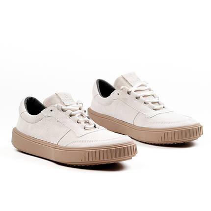 Кроссовки мужские South Loft white белые. Стилтные мужские кроссовки белого цвета., фото 2