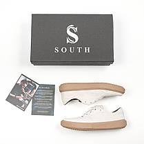 Кроссовки мужские South Loft white белые. Стилтные мужские кроссовки белого цвета., фото 3