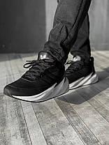 Кроссовки мужские ADIDAS Shark черные. Стильные мужские кроссовки Адидас черного цвета с белой подошвой., фото 3