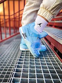 Жіночі блакитні кросівки Nike Air Jordan 4