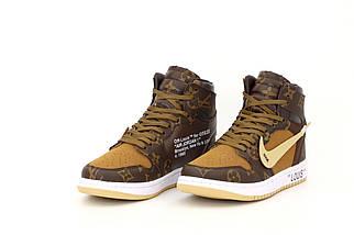 Жіночі кросівки Nike Air Jordan 1 Retro Louis Vuitton