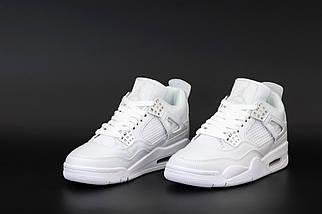Жіночі білі кросівки Nike Air Jordan 4 Retro