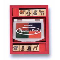 Набор для творчості Melissa&Doug Штампы 'Детеныши зверей зоопарка' (MD1638) печатка