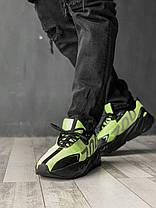Кроссовки мужские ADIDAS YEEZY салатовые. Стильные мужские кроссовки Адидас салатового цвета., фото 2