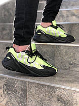 Кроссовки мужские ADIDAS YEEZY салатовые. Стильные мужские кроссовки Адидас салатового цвета., фото 3