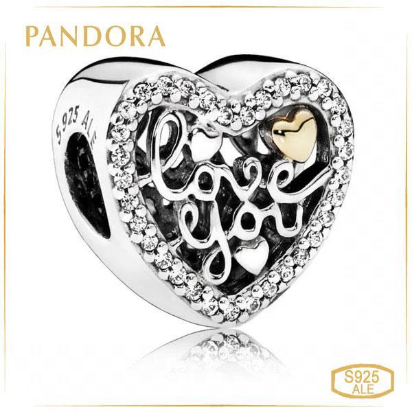 Пандора Шарм Визнання в любові Позолота Pandora 792037CZ_p
