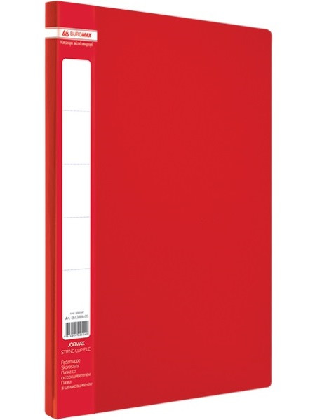 Папка A4 с боковым прижимом JOBMAX, красная(BM3401-05)