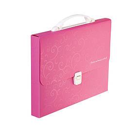Портфель пластиковий A4 / 35мм, BAROCCO, рожевий (BM3719-10)