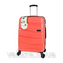 Комплект пластикових валіз з поліпропілену : великий, середній, маленький, фото 2