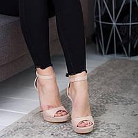 Женские босоножки Fashion Acey 2594 36 размер 23,5 см Бежевый