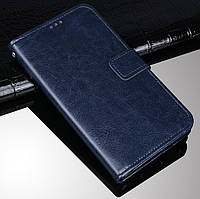 Чехол Fiji Leather для Lenovo Z6 Pro книжка с визитницей темно-синий
