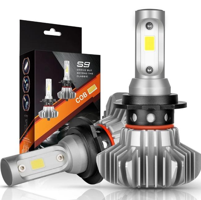Светодиодные LED лампы S9 H4 для автомобиля   автолампы 6500K 4000lm