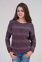 Теплый меланжевый женский свитер в расцветках