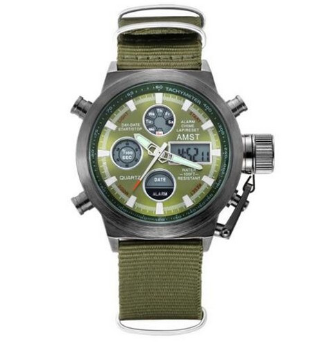 AMST 3003 Black-Green Green Wristband