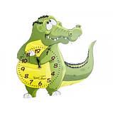 Детские настенные часы Крокодил зеленые арт.05-215 МДФ 22,5см*32,5см, фото 2