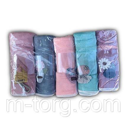 """Полотенце кухонное микрофибра """"цветочки"""", 35*75 см, фото 2"""