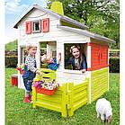 Великий дитячий ігровий будиночок Smoby Neo Friends зі столиком і парканчиком для дітей, фото 3