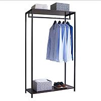 Вешалка стойка для одежды в стиле Лофт 1700х700х400мм, ВШ07