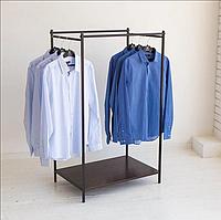 Вешалка стойка для одежды в стиле Лофт 1500х800х500мм, ВШ08