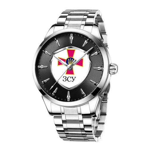 Chronte с логотипом ЗСУ Silver-Black-White