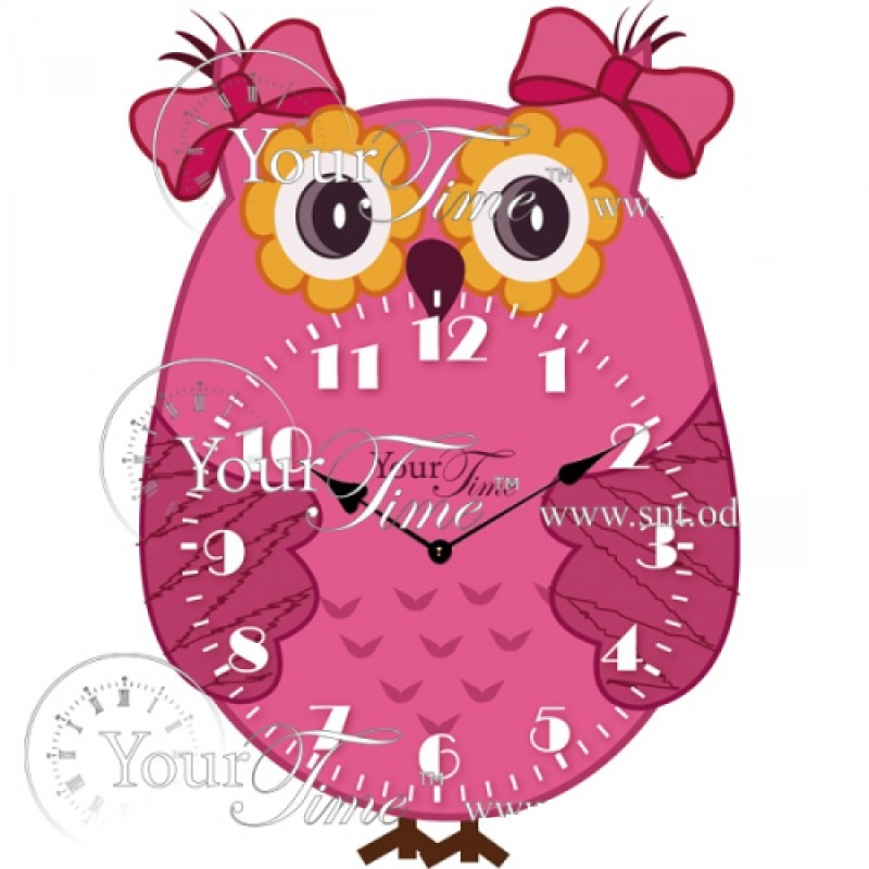 Дитячі настінні годинники Сова, Baby