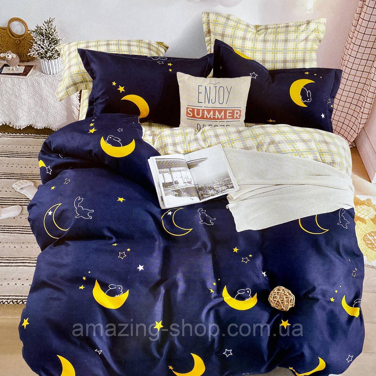 Полуторный комплект постельного белья с простыню на резинке, Постельное белье с фланели 1,5 полуторка