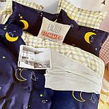 Полуторный комплект постельного белья с простыню на резинке, Постельное белье с фланели 1,5 полуторка, фото 2