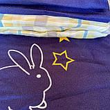 Полуторный комплект постельного белья с простыню на резинке, Постельное белье с фланели 1,5 полуторка, фото 3