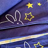 Полуторный комплект постельного белья с простыню на резинке, Постельное белье с фланели 1,5 полуторка, фото 5