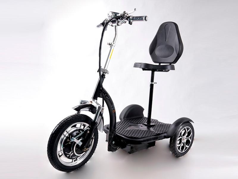 Електросамокат сидіння (сидіння - спинка, передній амортизатор) (чорний) T06-3 48v500W 12AH - SM
