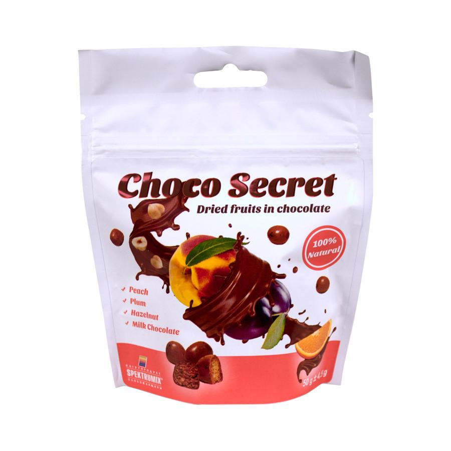 Цукерки з сухофруктів в шоколаді Choco Secret. Горіхово-фруктова, 50 г