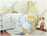 """Детское постельное белье в кроватку """"Бим Бом"""" комплект 7 ед. (жираф коричневый)"""