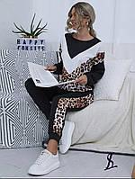 Женский спортивный прогулочный костюм 448 (42-44; 46-48; 50-52) (цвета: леопардовый принт) СП, фото 1