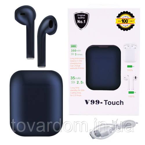 Бездротові bluetooth-навушники V99-Touch з кейсом