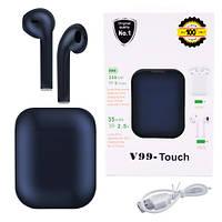 Бездротові bluetooth-навушники V99-Touch з кейсом, фото 1